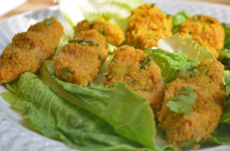 Lentil Balls with Romaine Lettuce